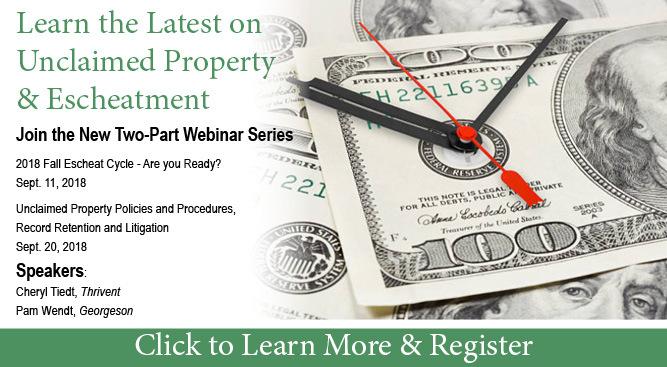 Unclaimed Property web series slide